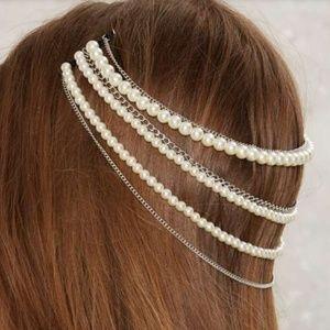 NWT Lena Bernard pearl hair piece
